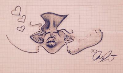 küssende Münder